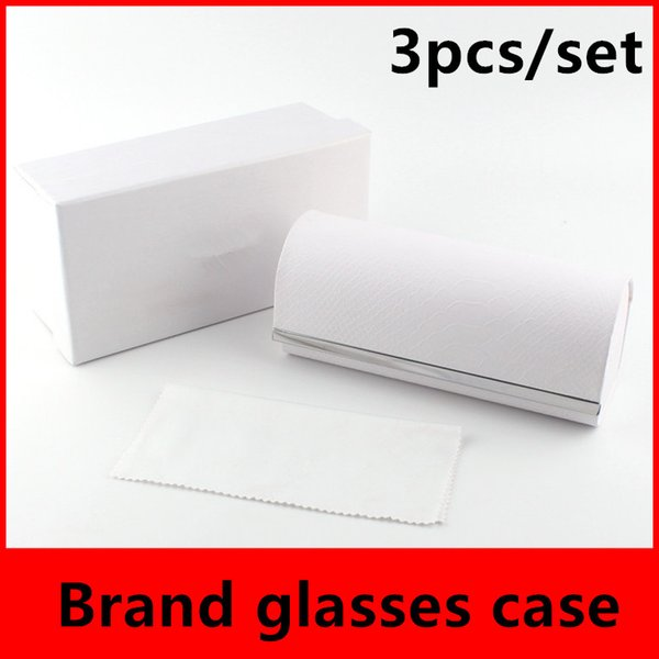 Snakeskin Spectacle Cases Brand Box Case For Sunglasses Eyeglasses Protective Eyewear Accessories Sunglasses Packaging Case Free Ship