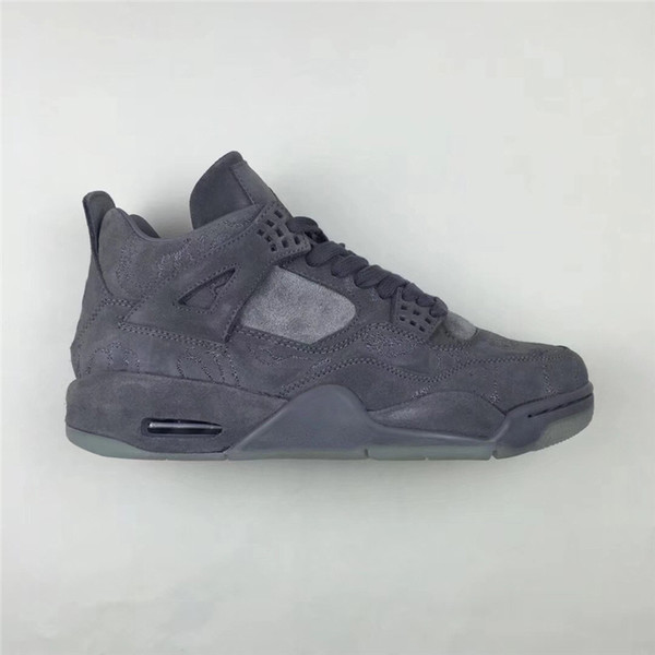 2018 Release 4 XX Kaws Cool Grey 4S IV Basketball Shoes For Men Authentic Quality Sneakers With Original Box 930155 003