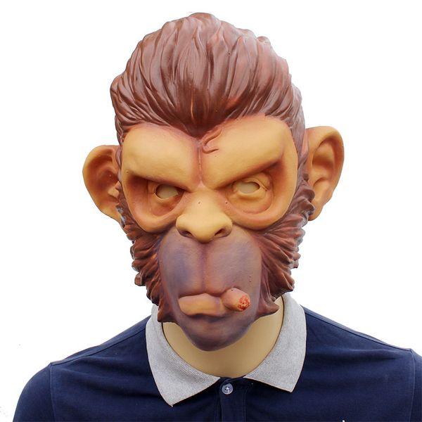 Halloween Mens GTA Smoking Monkey Mask Theme Costume Accessories Men Funny Party Stage Cosplay Pranks Headgear