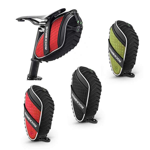 Bicycle Bag 3D Shell Rainproof Saddle Bag Reflective Bike Rear Seat Shockproof Cycling Rear Seatpost MTB Bike Accessorie