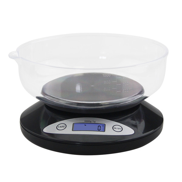 5000g * 1g Digital Scale Electronic Balance Bowl LCD Display Tea Food Diet Kitchen Weight Machine Postal Weighing Tools Mini Scale Measure