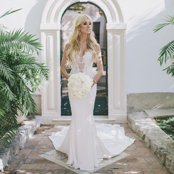 Lace Mermaid Wedding Dresses 2018 New Form Fitting Sweetheart Dress With Of Lace Elegant Bridal Gowns Floor Length Canada 2019 From