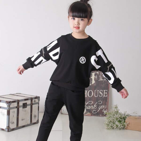 43480fea403ae 2019 Fashion Spring Autumn New Fashion Baby Girls Clothing Set Kids Sport  Suit Long Sleeve T Shirt+Pants Girls Clothes Sets Sell Well From ...