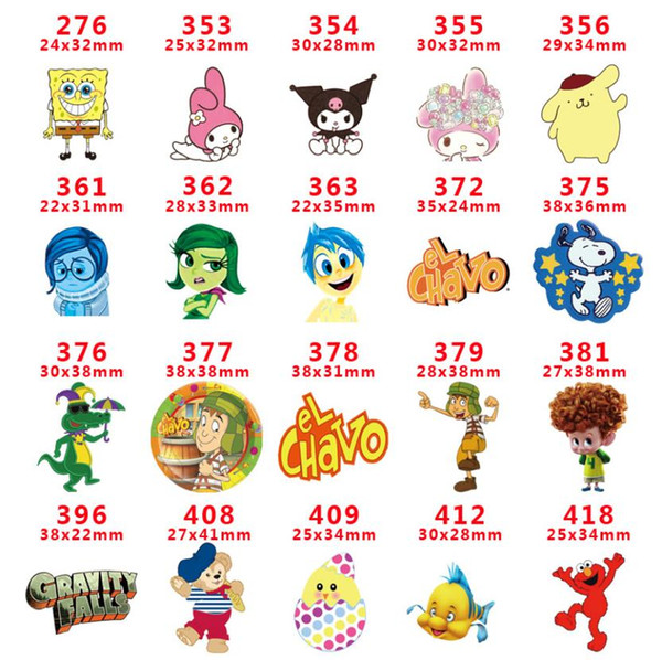 free shipping 1000pcs Cute Cartoon Girl Flat back Planar Resins Cabochon DIY Craft Embellishments For Home Decoration hair Accessories A