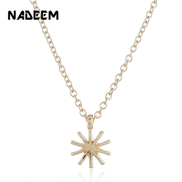 Fashion Gold Color Long Chain Sun Necklaces & Pendants For Women Bohemian Jewelry