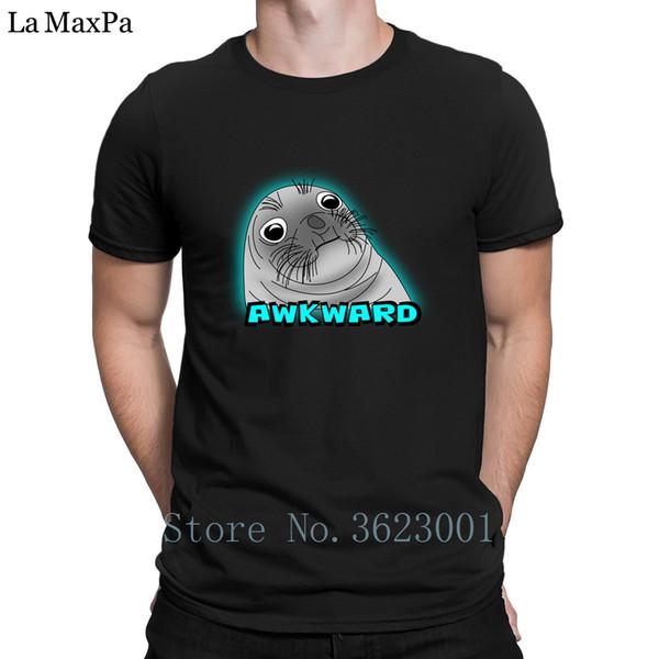 Designs Top Tee Camiseta Estranho Momento Selo Camiseta Para Mens Primavera de Algodão Mens T-Shirt de Lazer Camiseta Estranho Clássica