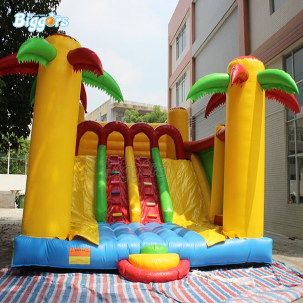Giant Hot Selling Factory Price Inflatable Games Commercial Outdoor Inflatable Dry Slide With Blowers