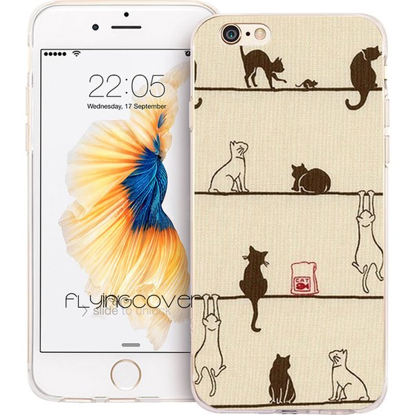 Coque Funny Cats Kittens Clear Soft TPU Silicone Phone Cover for iPhone X 7 8 Plus 5S 5 SE 6 6S Plus 5C 4S 4 iPod Touch 6 5 Cases.