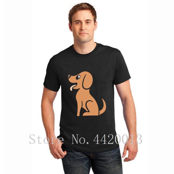 designer 100% cotton S-XXXL happy dog Unique Graphic Basic summer Leisure Pop Top Tee men tshirt