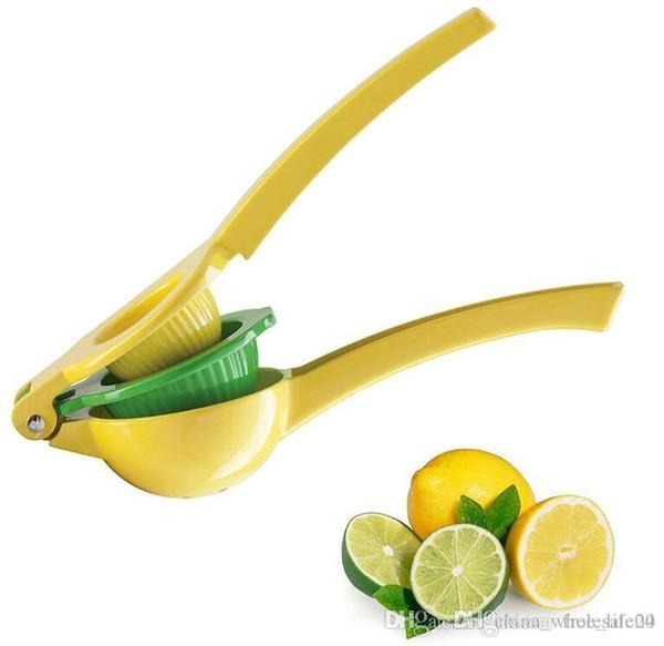 Free shipping Multifunctional Lemon Juicer 2 in 1 Best Hand Held Aluminum alloy Lemon Orange Citrus Squeezer Press Fruits Kitchen tools