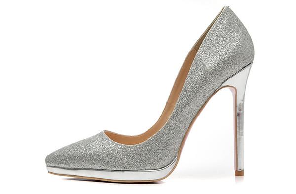Stylesowner Top Sexy Lady Nuevas Bombas Zapatos Sexy 12cm Tacón Bajo Boca puntiaguda Partido Zapato Color Match Nice Zapato Mujer