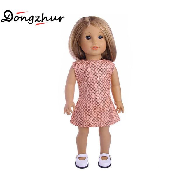1 Pcs Doll Dress Toy Fit For 18 Inch American Girl Doll Toys For Children Girl Gifts Skirt Toys Accessories WWP4326