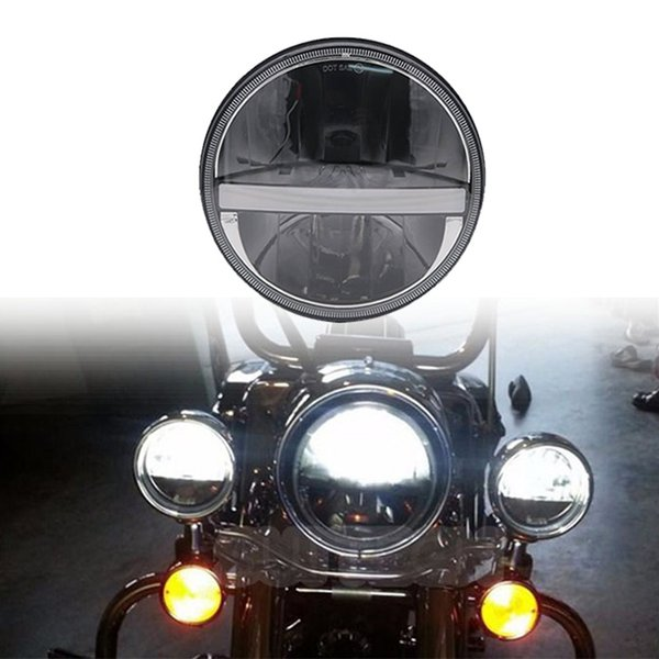 7Inch LED Headlight For Harley Davidson Motorcycle Tour FLD Softail Heritage Street Glide Road King Electra Glide