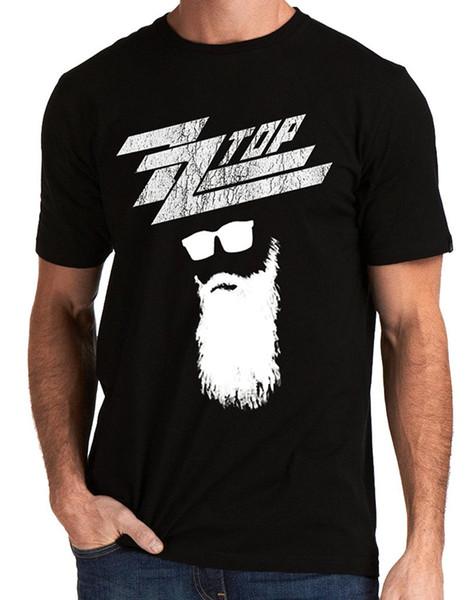 ZZ Top Logotipo da Banda de Rock Dos Homens do Texas T-shirt Estilo de Design de Moda de Nova Manga Curta T Camisa Ocasional Homem Tees Em Torno Do Pescoço Adolescente