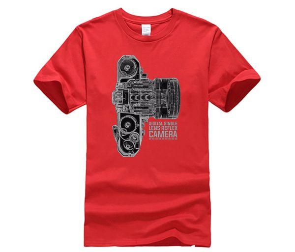 Brand Clothing 100% Cotton Short Sleeve Summer T-Shirt Camera Dslr Technologie X Ray Photographie T Shirt Print