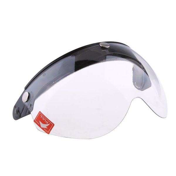 3-Snap Mount 3/4 Face Motorcycle Helmet Flip Visor with Clear Mirror Shield Impact Resistant,Anti-scratch Coating