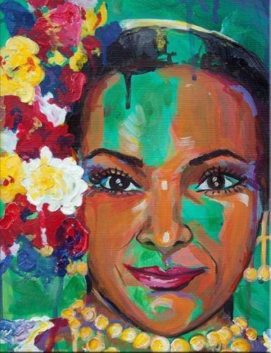 Beautiful Balerina African American Woman portrait Handpainted Graffiti Art oil painting Wall Art Home Decor On High Quality Canvas p218