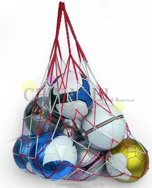 Grosshandel 50 Stucke Outdoor Sporting Fussballnetz 10 Balls Tragen Net Tasche Sport Tragbare Ausrustung Fussball Balls Volleyball Ball Net Tasche Von