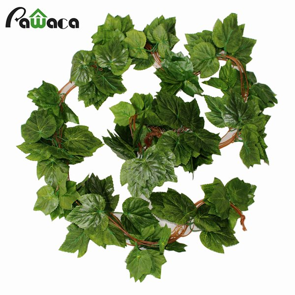 2.3M Long Artificial Plants Green Ivy Leaves Artificial Leaves Fake Foliage Plastic Garland Vine Wall Home Party Wedding Decor