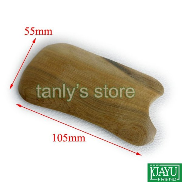 Sac cadeau graphique gua sha! Kit de massage en bois parfumé guasha kit Scrappping plate 2pcs / lot (105x55mm)