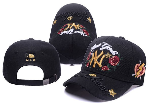 a48807f7615 2018 hot NY Baseball Fitted Hats Mens Sport Hip Hop Fitted Caps Womens  Fashion Cotton Casual female Hats Embroidery letters spring summer