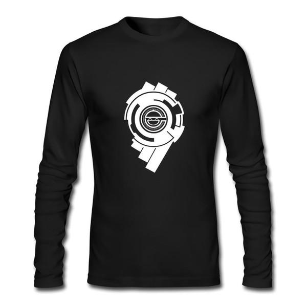 Nueva camiseta de manga larga negra de GHOST IN THE SHELL LOGO Tamaño XS-2XL