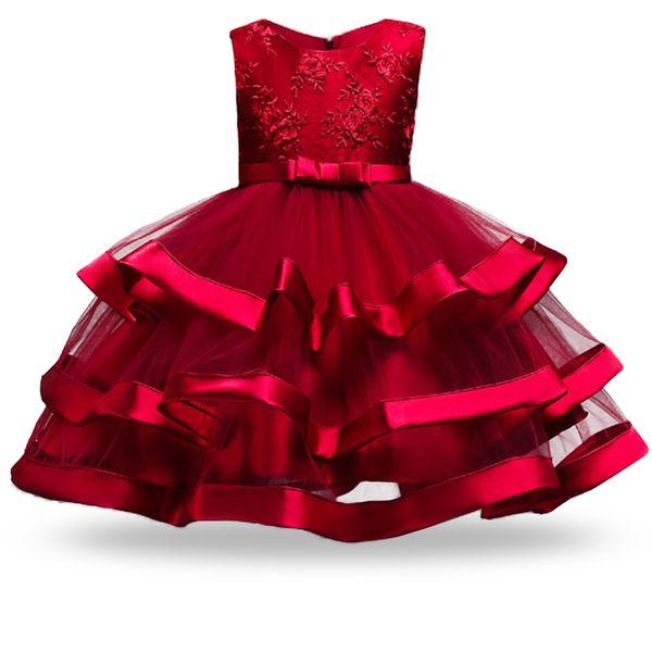 Girl Dress Children Clothing Wedding Party Girls Dresses birthday Clothes Newborn Princess Ball Gowns Girl Formal Party Dress