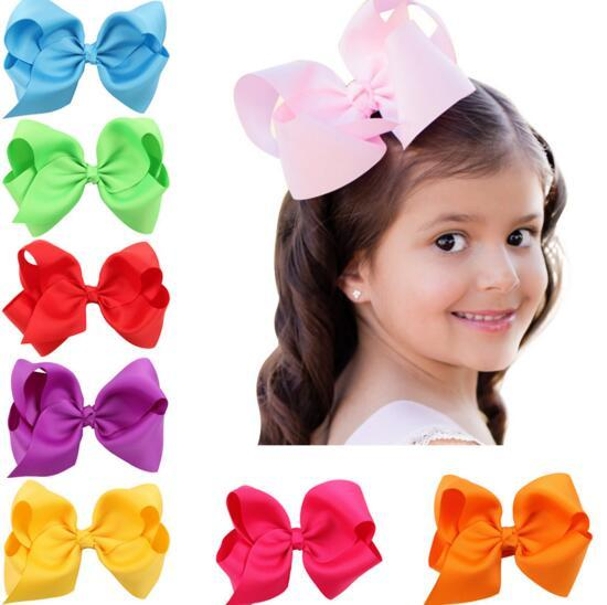 top popular 16 colors baby girl cany color big bow barrettes Design Hair bowknot Children Headwear Kids Hairpin Girls Hair Clips Baby Hair Accessory 2020
