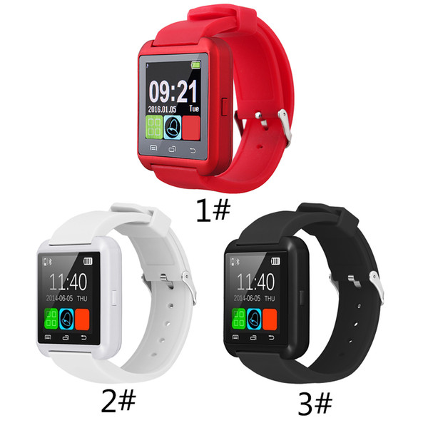 Bluetooth U8 Smartwatch Orologi da polso Touch Screen per iPhone 7 Samsung S8 Android Phone Sleeping Monitor Smart Watch