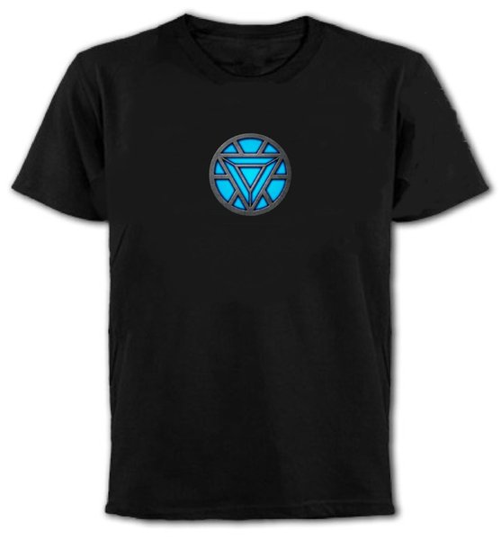 Iron Man Arc Reactor Unisex Marvell T-Shirt All Sizes/Colours Funny free shipping Unisex tee