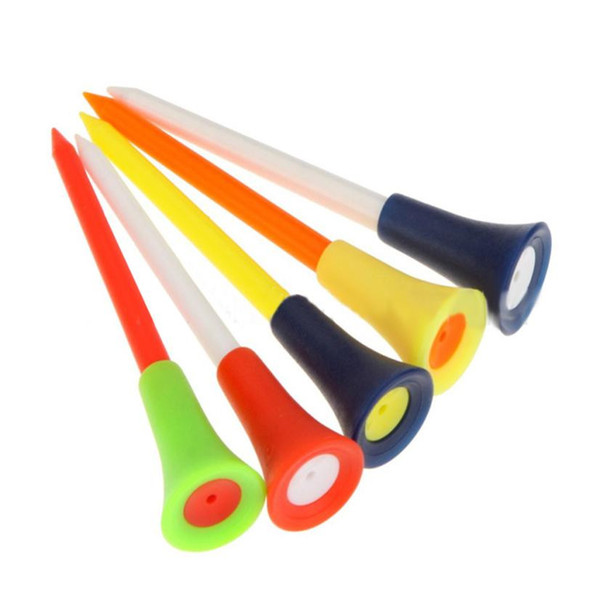best selling Multi Color Plastic Golf Tees 83mm Durable Rubber Cushion Top Golf Tee Golf plastic ball stud WS-26