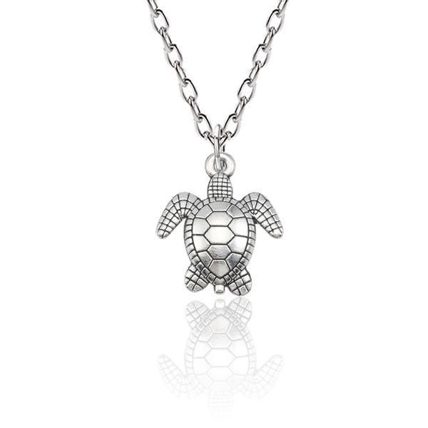 Trendy Animal Necklace Women Jewelry Silver Metal Sea Turtle Tortoise Charm Pendants Necklaces Halloween Christmas Gifts Colar