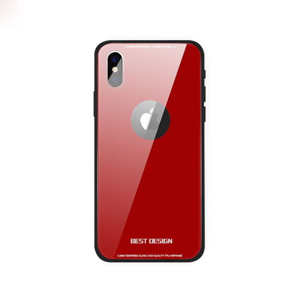 2018 New Arrival With hole style glass mirror phone shell Ultra Thin 9H Hardness Tempered Glass Case for Iphone X tempered glass cover