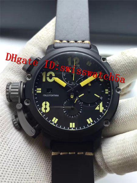 New Luxury U-51 Chimera Watch Automatic Mechanical Chronograph Movement Sapphire Crystal Ceramic Bezel 316L Stainless Steel Case Men Watch