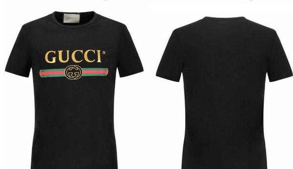 2018 L'Europe et les États-Unis nouveau manches courtes un bar impression T-shirt veste de mode hommes et femmes T-shirt décontracté