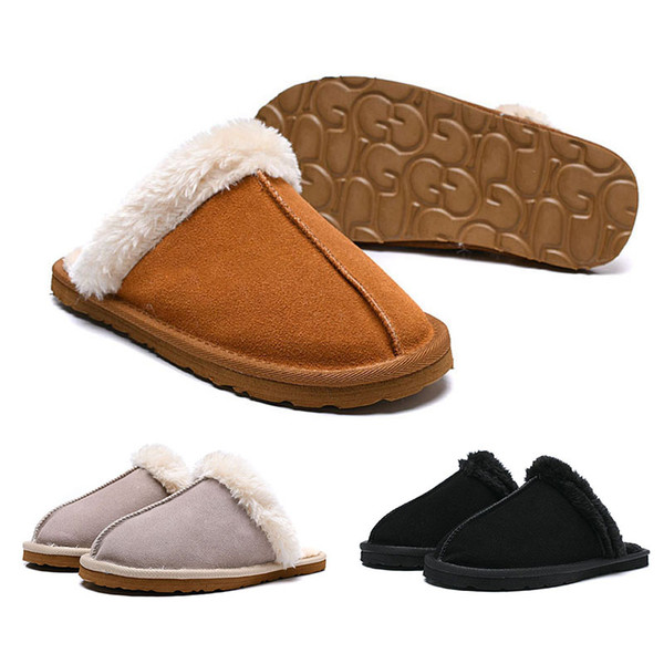29982734eb1 2019 New WGG Women Girl Slides Winter Luxury Designer Indoor Fur Brand Warm Sandals  Slippers House Flip Flops With Spike Sandal