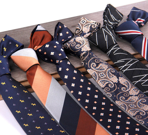 Neues Design Anzug Krawatten Streifen Tiere Blumenmuster Krawatten für Männer Mode-Accessoires Drop Ship 210128