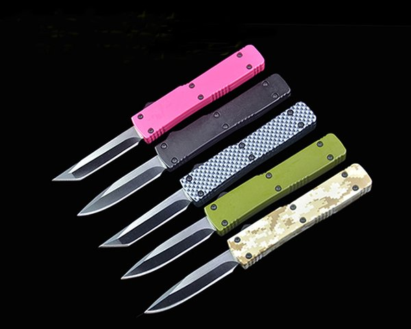 New 5 Handle Colors Mini Small Auto Tactical Knife 440C Steel Blade EDC Pocket Knives Gift Knives With Retail Box Package