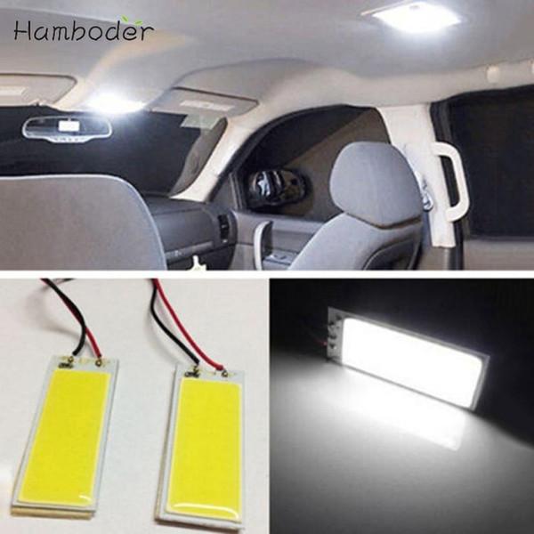MA 14 Sıcak Satış Hızlı Kargo LED aydınlatma 2 adet Xenon HID Beyaz 36 COB LED Dome Harita Ampul Araba İç Panel Lambası 12 V