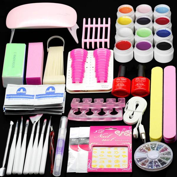 Mini Super Lamp Faster 6W LED Pink Led Nail Set ToolLight 12 Color Gel Nail Makeup UV gel Polish Dryer Diy Armor For HomeUse