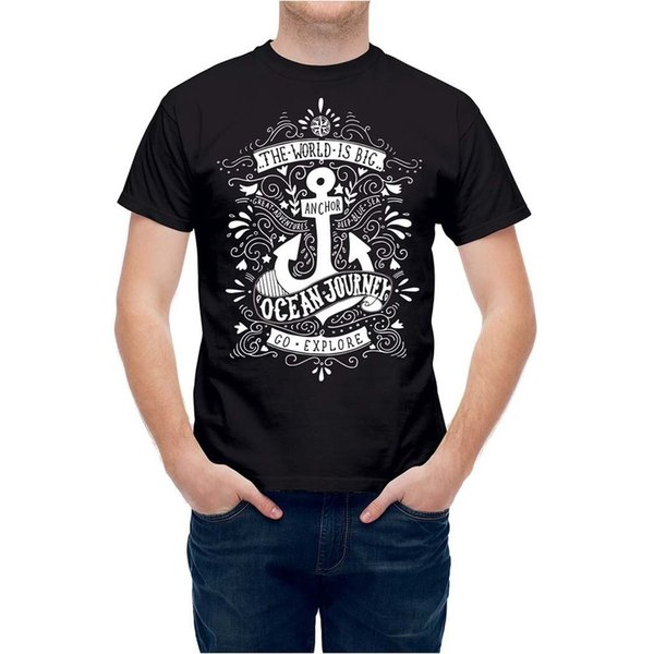 T-shirt Sailor Nautical Marine Anchor Anchor Typo Tee T24799 Cool Casual orgoglio t shirt uomo Unisex Nuovo