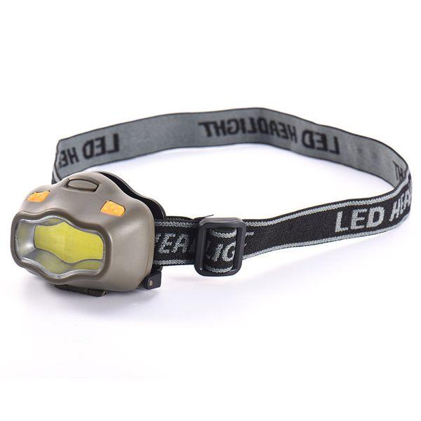 Outdoor Activities Headlamp Mini 16 COB LED Three Modes Bi-color Mini Head Lamp For Camping Red White Light Headlights