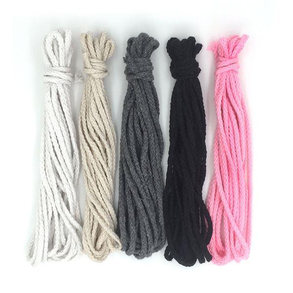 2017 Meilleur Vente Chaude 5mm Tressé Tressé Coton Cordon DIY Perles Corde Corde D'emballage Décoratif Craft Thread Bijoux Sacs