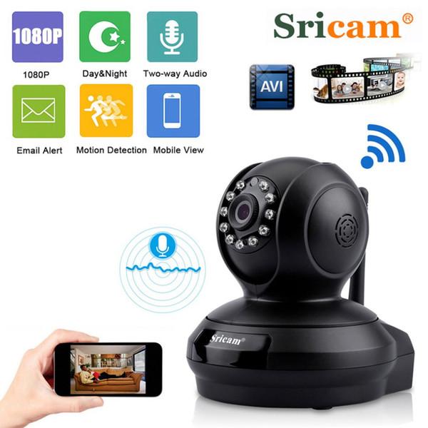 Sricam SP019 1080 P HD Ev Gözetim Kamera Bebek Monitörü Gece Görüş WiFi Kapalı IP Güvenlik Kamera P2P PTZ Destek TF Kart