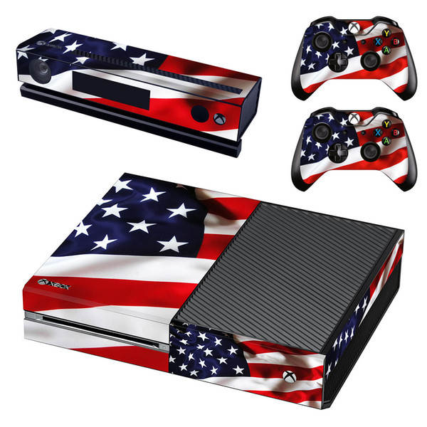 Vinyl Fashion Skin Decal for Xbox one Console and 2PCS Xbox one Controller Skins Stickers - America nation flag