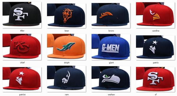 Yeni Kapaklar Futbol Snapback Şapkalar 2018 Yeni Kap Takımlar Şapkalar Mix Maç Sipariş Tüm Caps stokta En Kaliteli Şapka Toptan