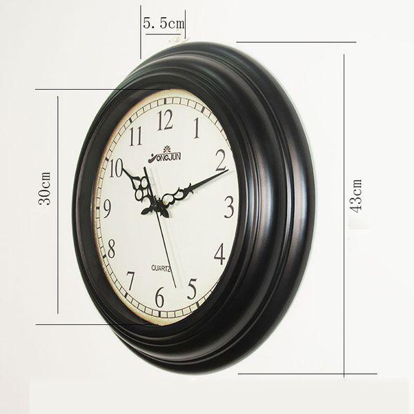 Creative Retro Living Room Wall Clock Decoration Decorative Clock