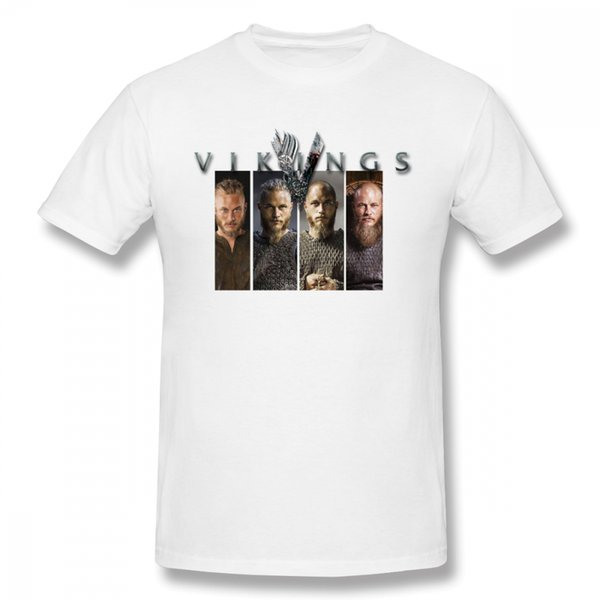 For Men Vikings T Shirt Graphic Homme Tee Shirt Fashion New Arrival Top Design Hot Sale Tees 100% Cotton T Shirt