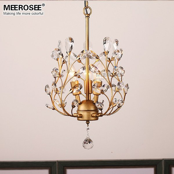 Modern Crystal Chandelier Lighting Fixture American Style Hanging Kronleuchter Dining room Lamp Crystal Restaurant Drop Lamp