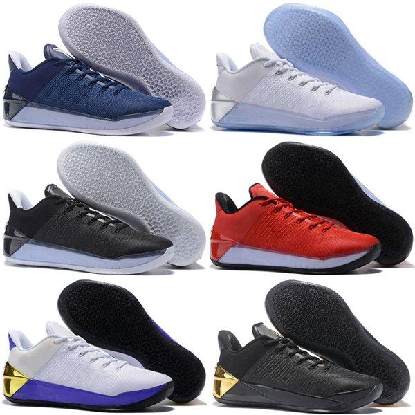 2018 Новый Кобе 12 XII Ad черное золото homem мужчины баскетбольная обувь фиолетовый крас